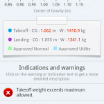 Weight & Balance Result View